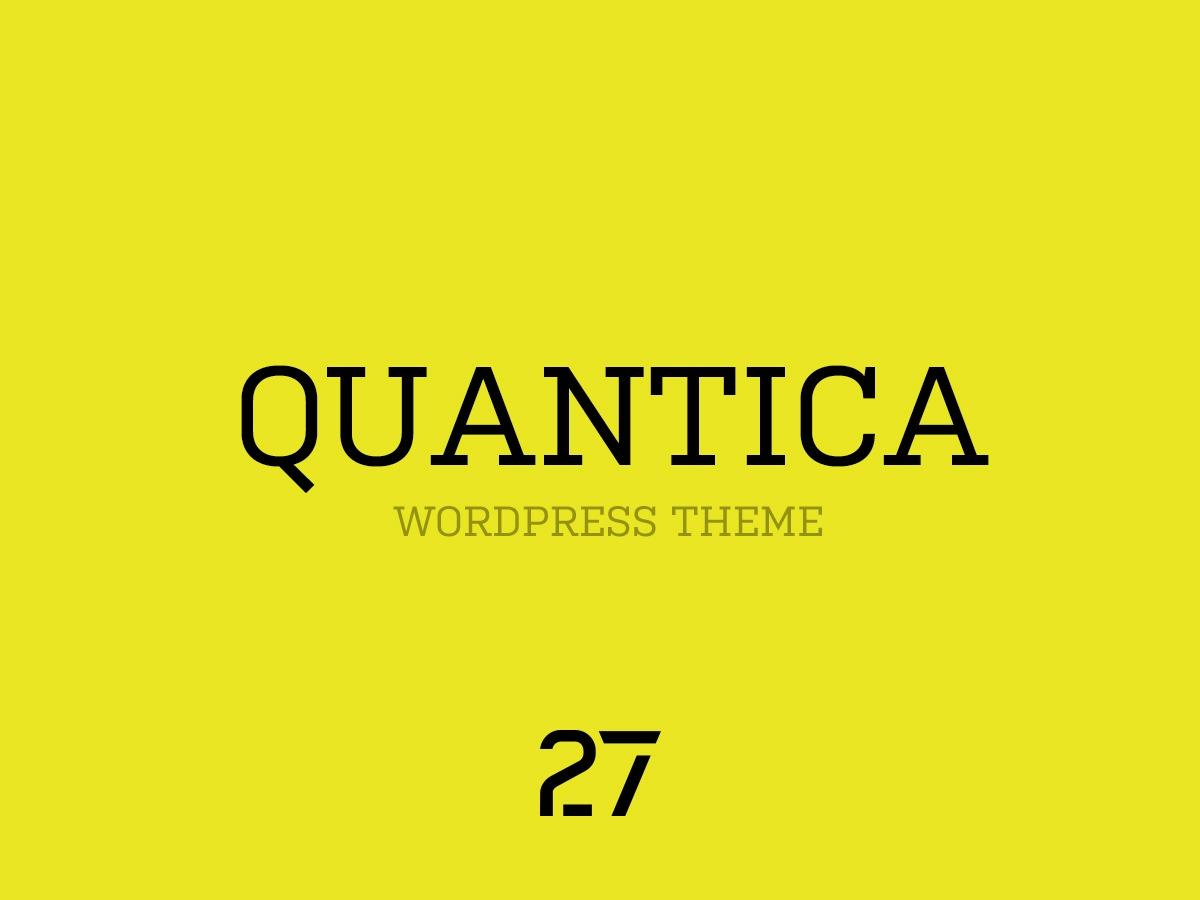 Quantica WordPress theme design