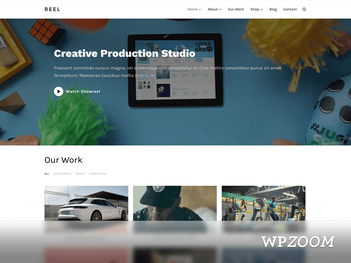 Reel WordPress video template