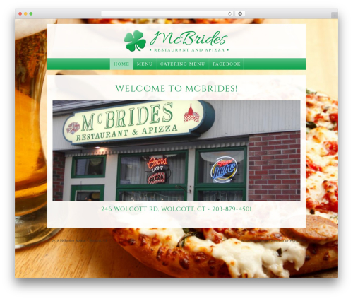 Responsive WordPress pizza theme - mcbrideswolcott.com