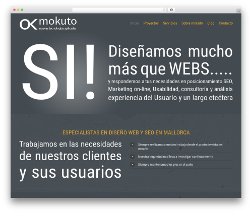 Template WordPress Avada - mokuto.com