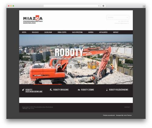 Tequilla Premium Wordpress Theme WordPress theme design - miazga.pl