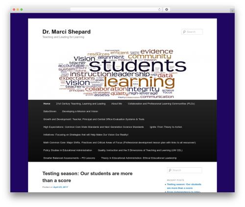 Twenty Eleven free WordPress theme - marcishepard.org