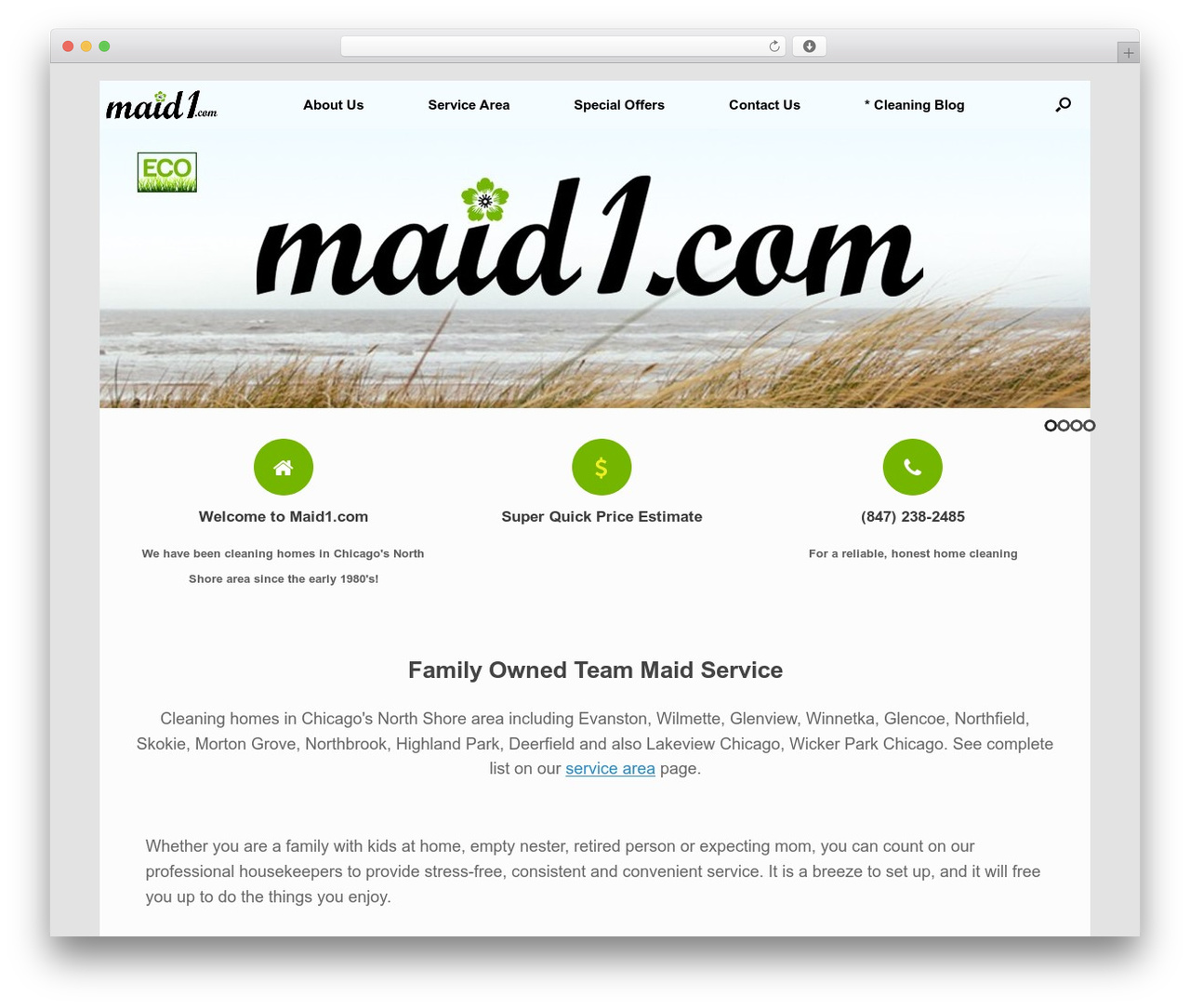 Vantage Premium premium WordPress theme - maid1.com
