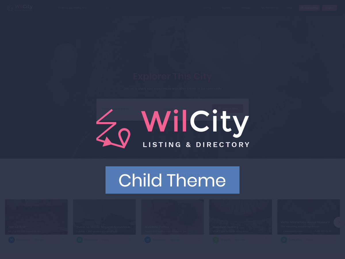 WilCity ChildTheme WordPress theme