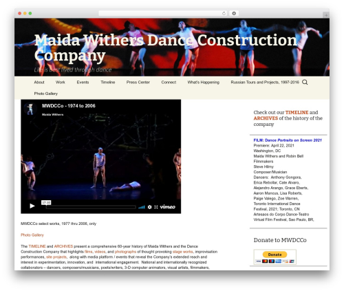 WordPress theme Maida Withers Dance Construction Company - maidadance.com