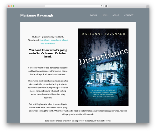 WP template Author Pro Theme - mariannekavanagh.com