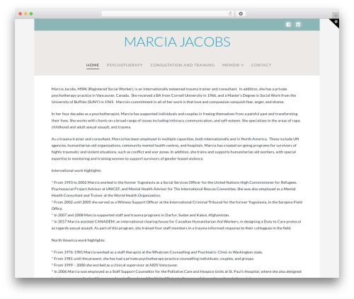 WordPress x-shortcodes plugin - marciajacobs.com