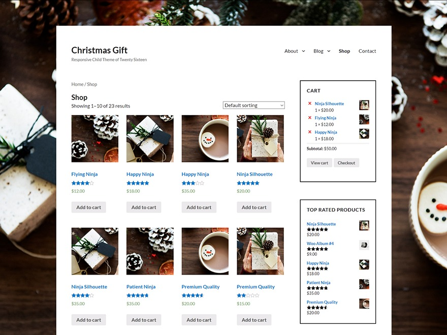 Christmas Gift WordPress shop theme