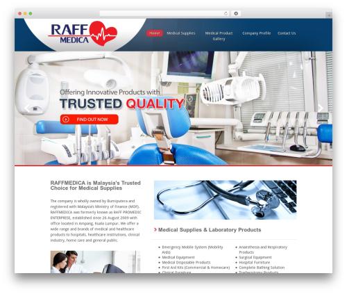 Inspire medical WordPress theme - raffmedica.com