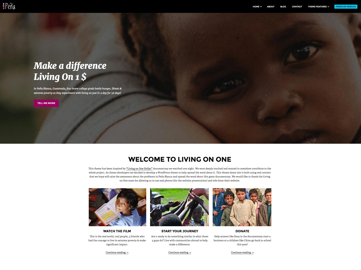 Pena Lite WordPress theme free download