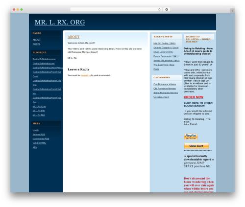 Quadruple Blue WordPress theme - mrlrx.org
