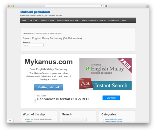 Responsive WordPress theme - mykamus.com