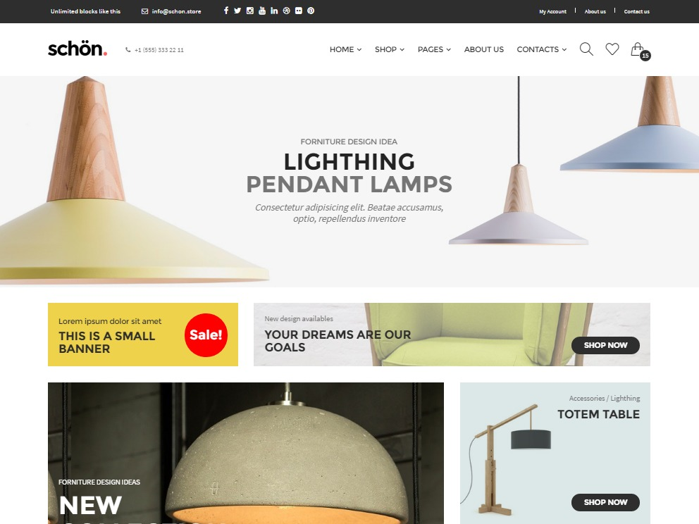 Schon Child WordPress page template
