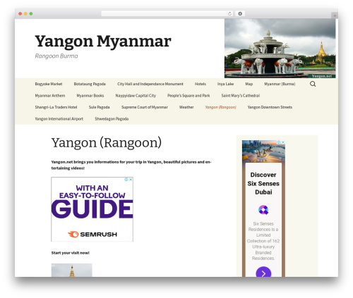 Twenty Thirteen WordPress theme - yangon.net