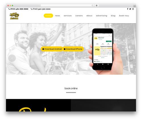 WP CityCab top WordPress theme - yellowcabaz.com