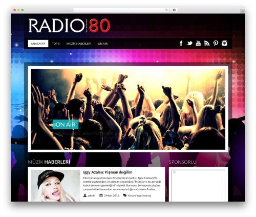 Best WordPress template SoundWave - radiosexen.com