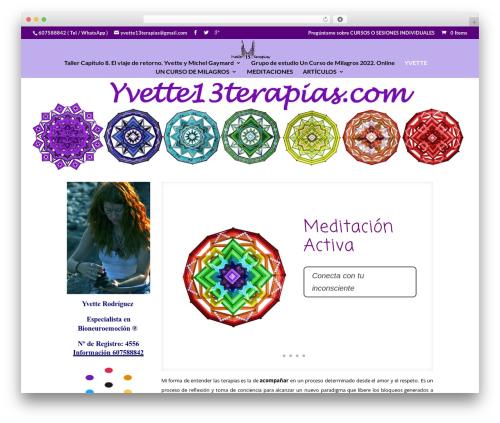 Best WordPress theme Divi - yvette13terapias.com