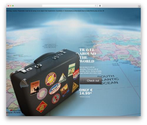 Encore WordPress travel theme - yourtraveljobs.com