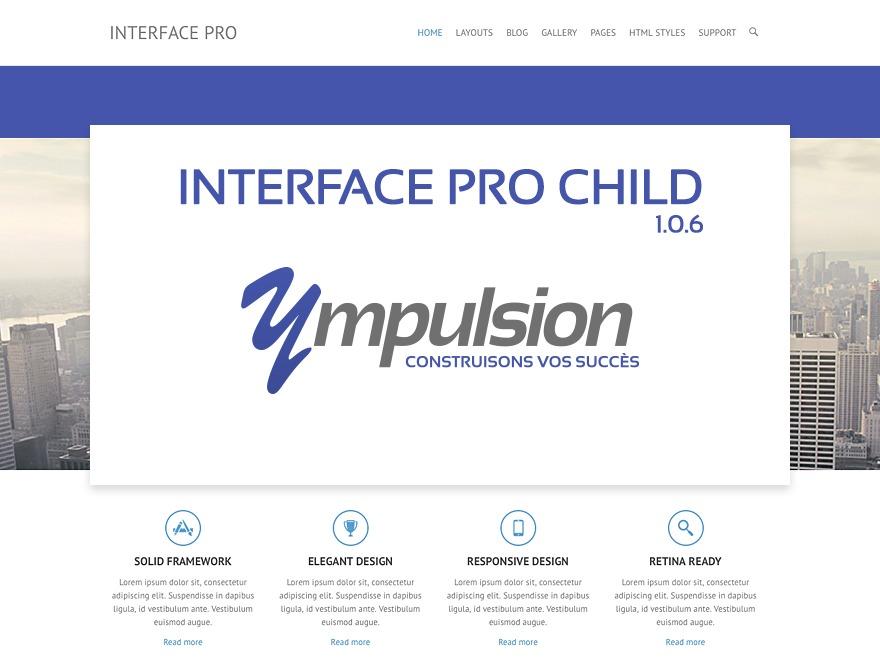 Interface Pro Child best WordPress theme