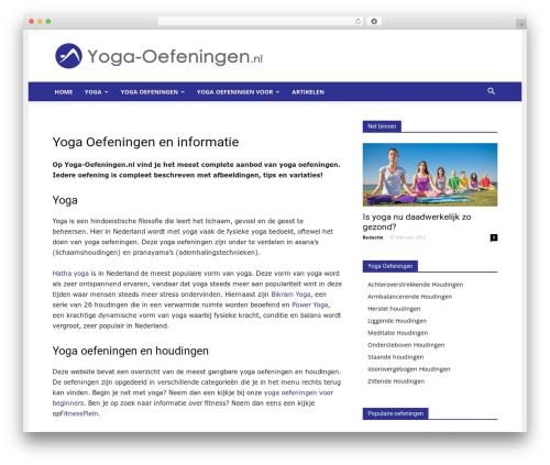Newspaper WordPress magazine theme - yoga-oefeningen.nl