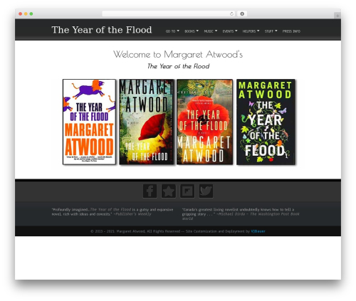 Simplify  Extend WP theme - yearoftheflood.ca