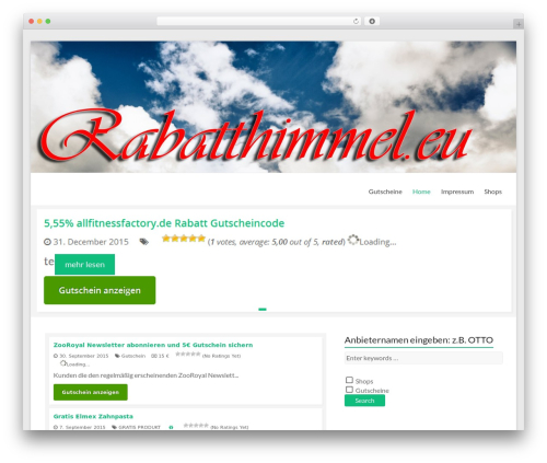 WordPress wpvp plugin - rabatthimmel.eu