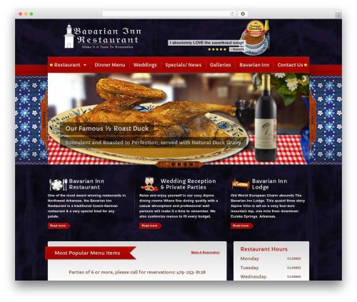 Template WordPress Bavarian Inn Restaurant - restaurant.eurekaspringsinn.com