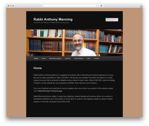 Twenty Eleven template WordPress free - rabbimanning.com