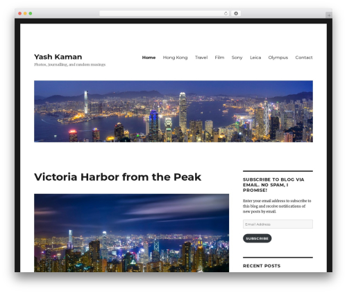 Twenty Sixteen WordPress theme - yashkaman.com