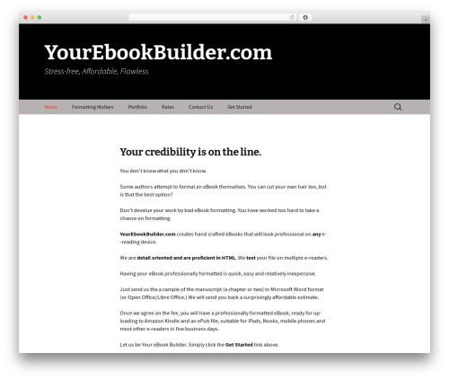 Twenty Thirteen WordPress template free - yourebookbuilder.com
