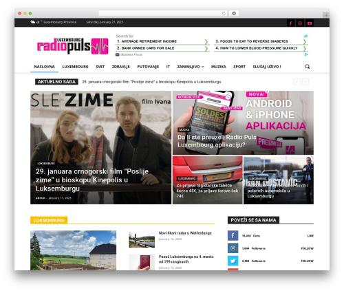 WordPress template Newspaper - radiopuls.lu