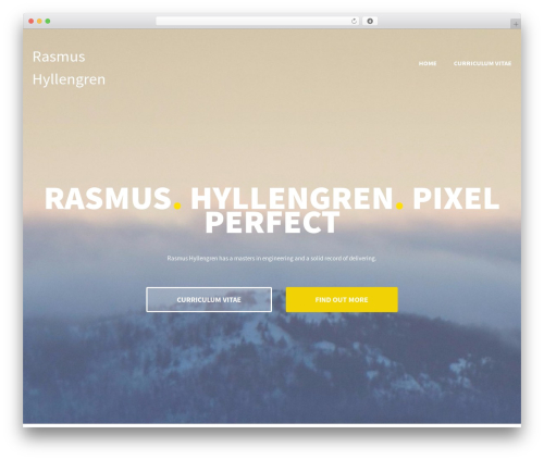 WordPress theme Illdy - rasmushyllengren.com