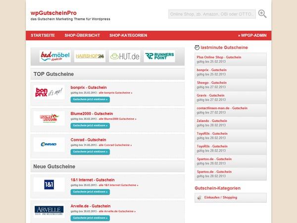 wpGutscheinPro WordPress theme