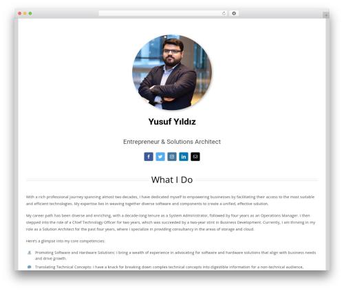 Avada WordPress website template - yusufyildiz.com.tr