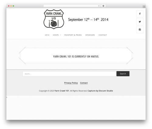 Best WordPress theme Capture - yarncrawl101.com