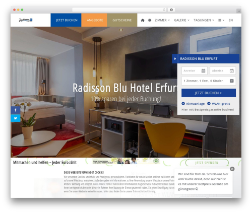 Divi best restaurant WordPress theme - radisson-erfurt.de