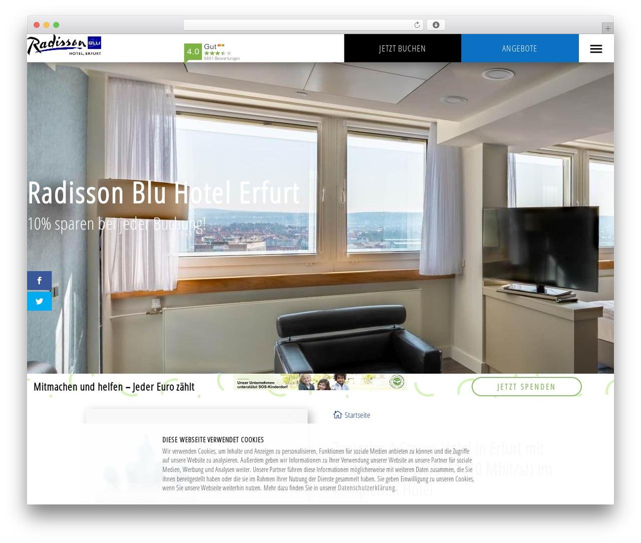 Divi best restaurant WordPress theme - radisson-erfurt.de