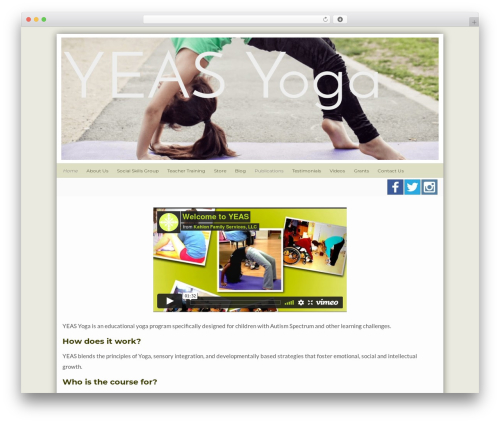 Flat Responsive Child template WordPress - yeasyoga.com