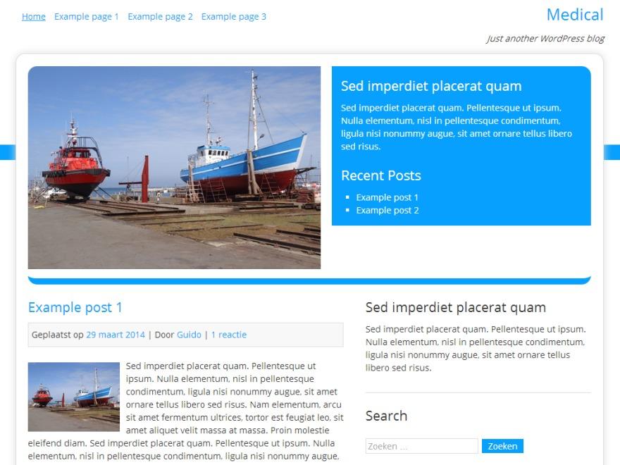 Medical company WordPress theme