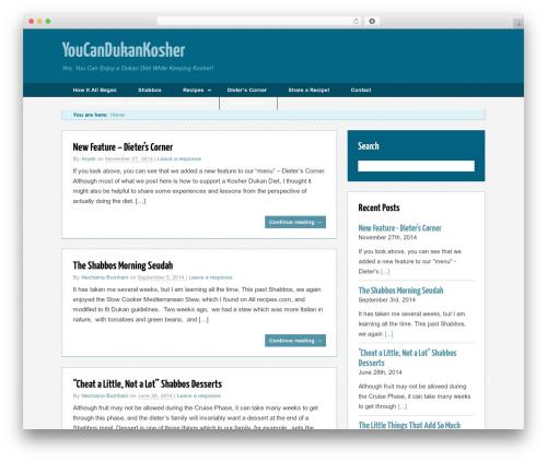 Trending premium WordPress theme - youcandukankosher.com