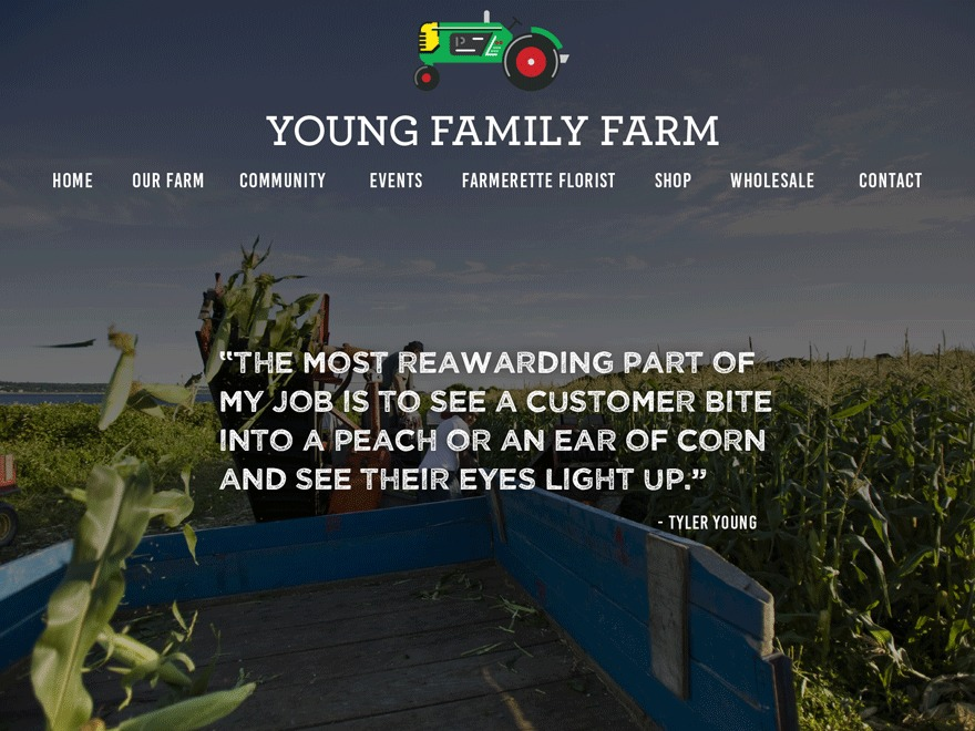 Young Family Farm WordPress theme
