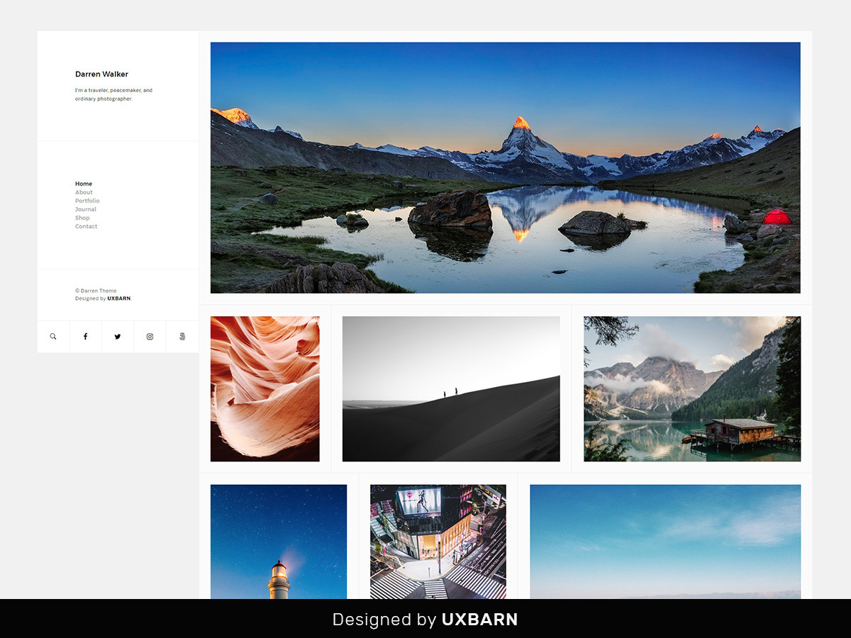 Darren WordPress gallery theme