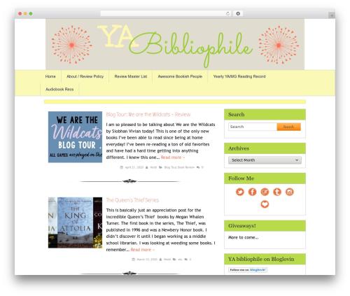 Tweak Me WordPress blog template - yabibliophile.com