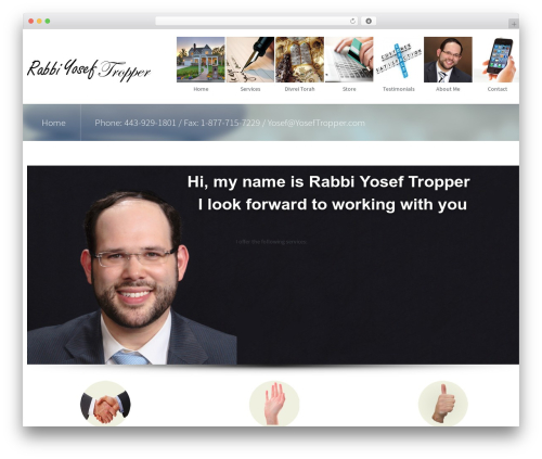 WordPress theme Second touch - yoseftropper.com