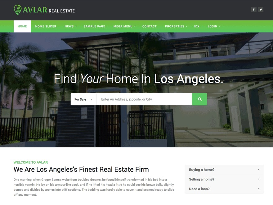 Avlar Progression real estate WordPress theme