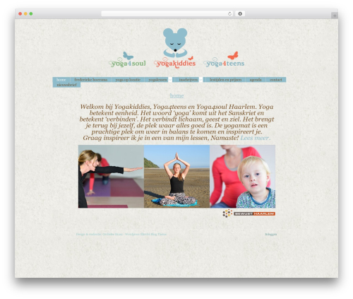 Best WordPress template Blissful-Blog - yogakiddies.nl