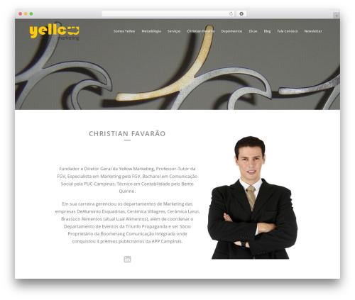 Brazil theme WordPress - yellowmarketing.com.br/christian-favarao