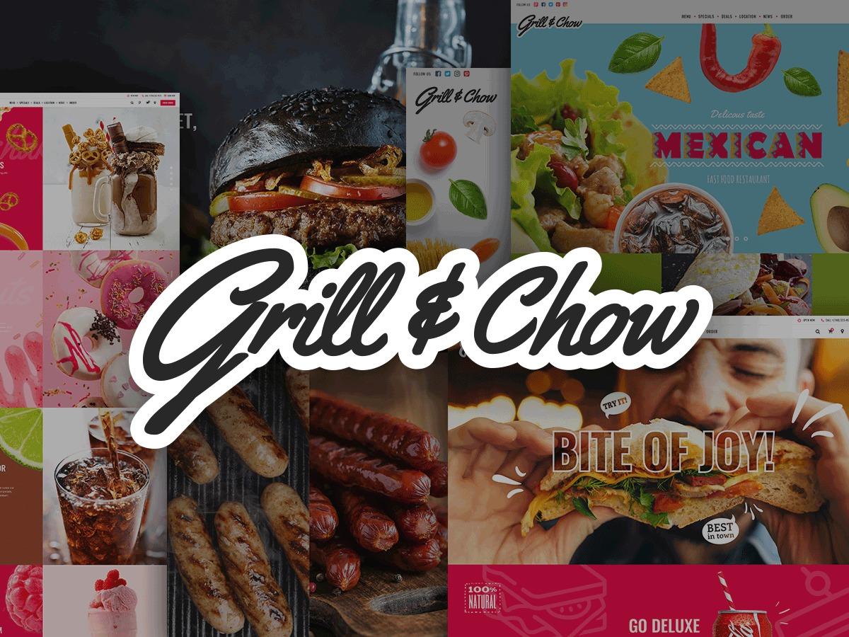 Grillandchow food WordPress theme
