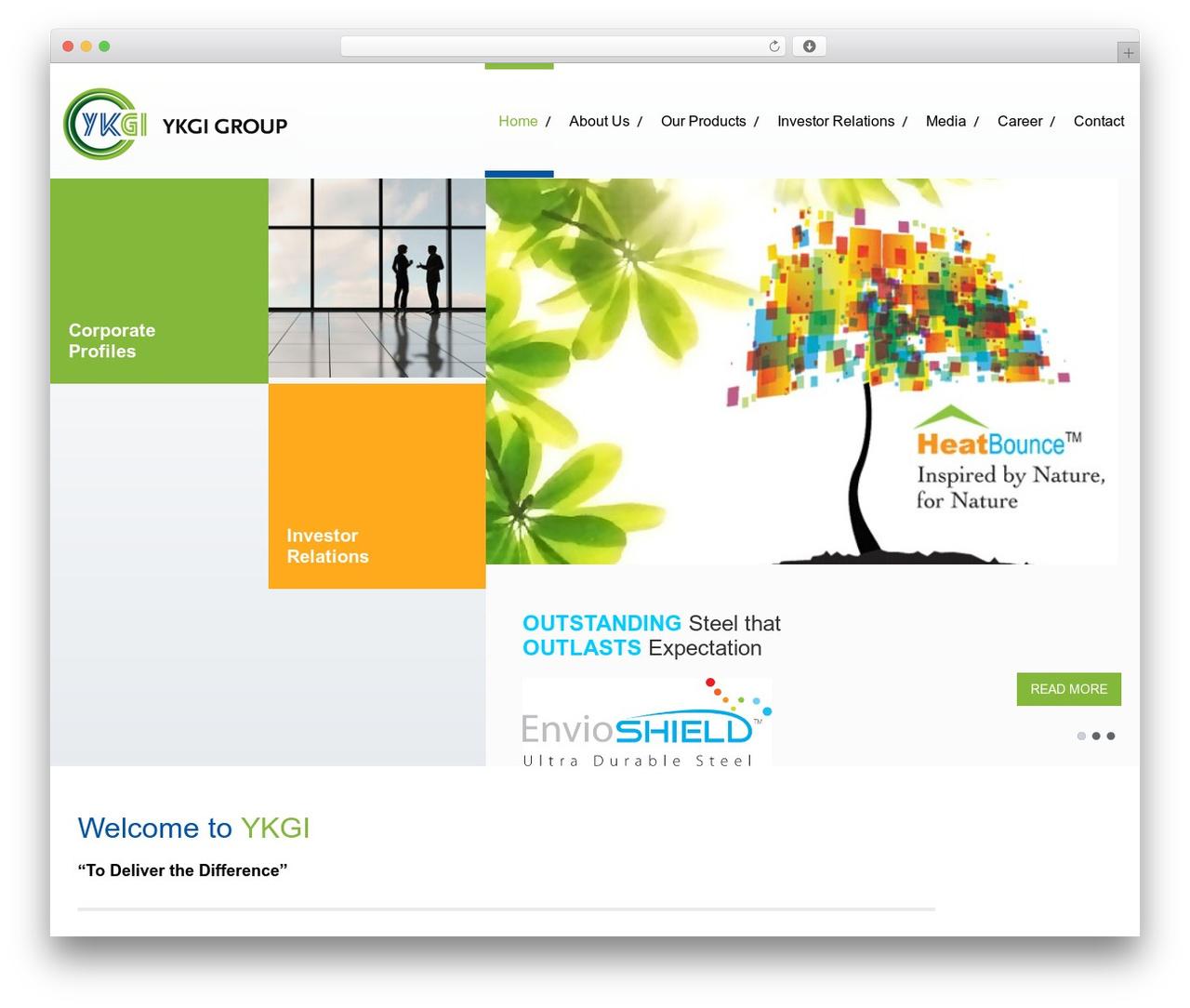 Klasik premium WordPress theme - ykgigroup.com