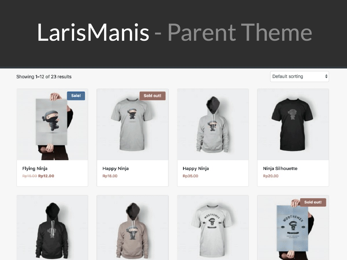 LarisManis WP WordPress shop theme